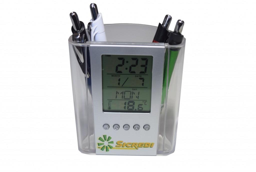 Foto 2 do produto Porta Caneta com relógio digital