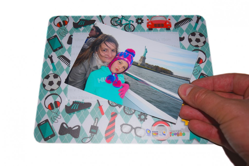 Mouse Pad PVC Porta Fotos