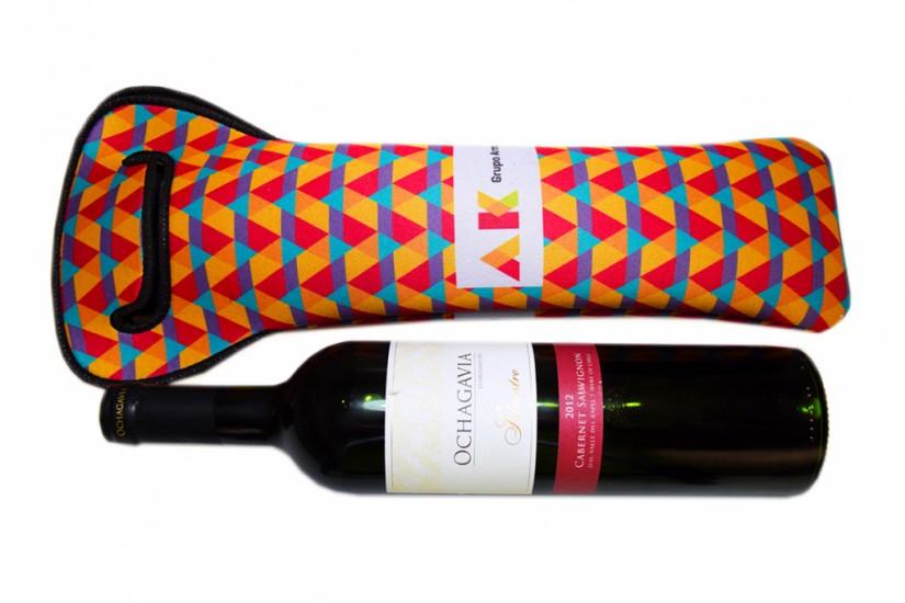 Foto 2 do produto Porta Garrafas de vinho em tecido