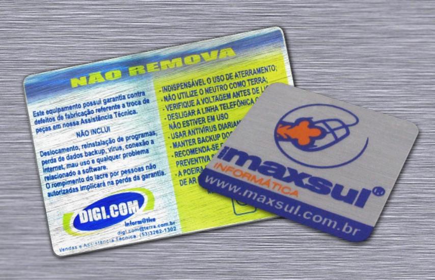 Foto 3 do produto Etiquetas de identificação em Vinil Escovado