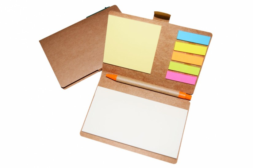 Foto 2 do produto Bloco de anotações com caneta ecológico