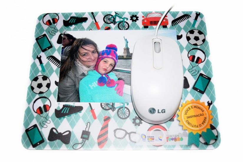 Foto 2 do produto Mouse Pad PVC Porta Fotos