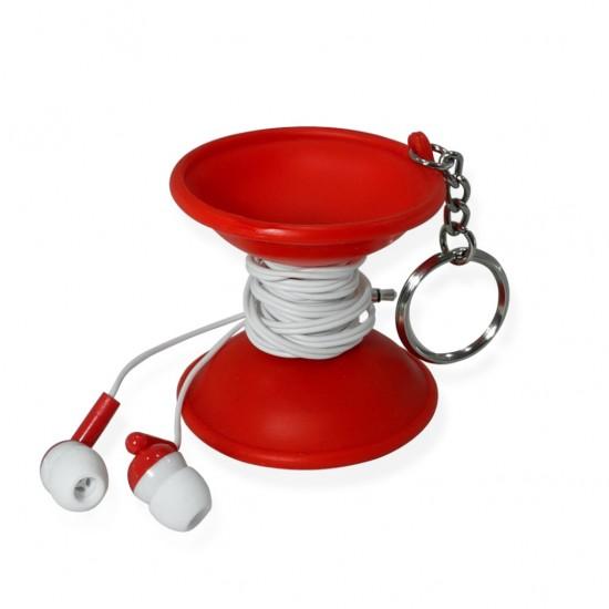 Foto 3 do produto Chaveiro Emborrachado com fone de ouvido